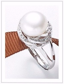 anillo plata con perla blanca 100% natural talla ajustable