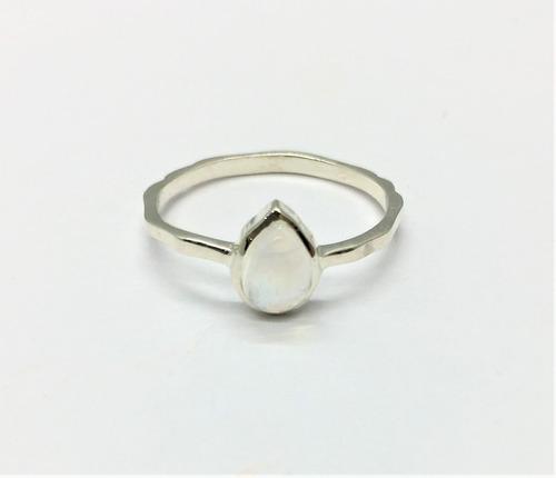 anillo plata con piedra natural ópalo