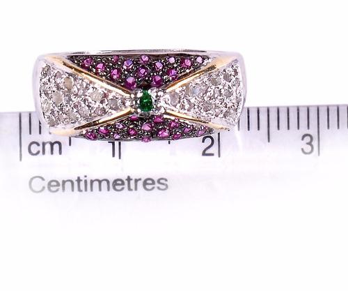 anillo plata diamante