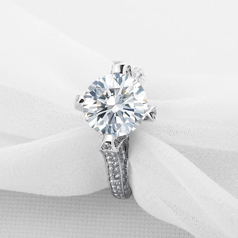 e41b59f9c305 Anillo De Compromiso Plata 925 Diamantes -   3