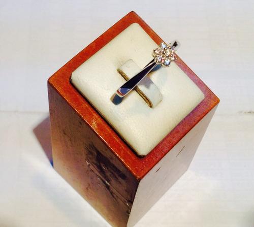 anillo plata fina circones roseta rodinado psp gps
