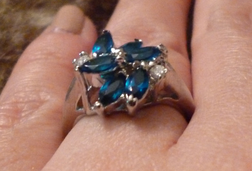 anillo plata flor circones lila talla 8