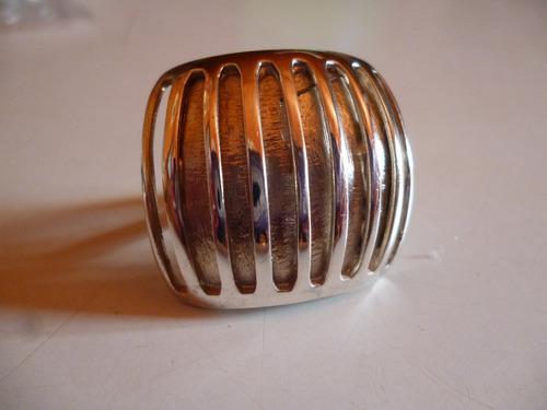 anillo plata modelo cuadrado