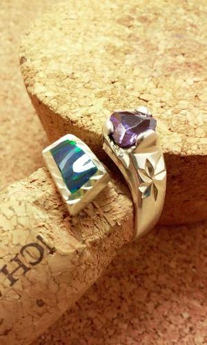 anillo plata ópalo