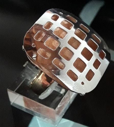 anillo plata oro
