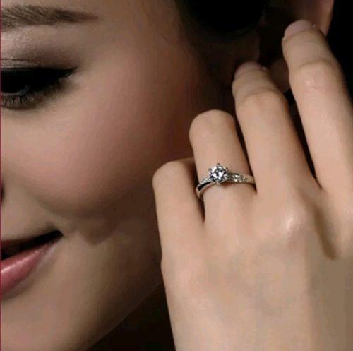 anillo plata s925 + caja compromiso regalo mujer aniversario