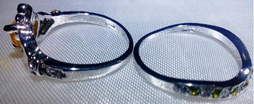 anillo plata s925 claddagh gemas citrino y peridot talla8