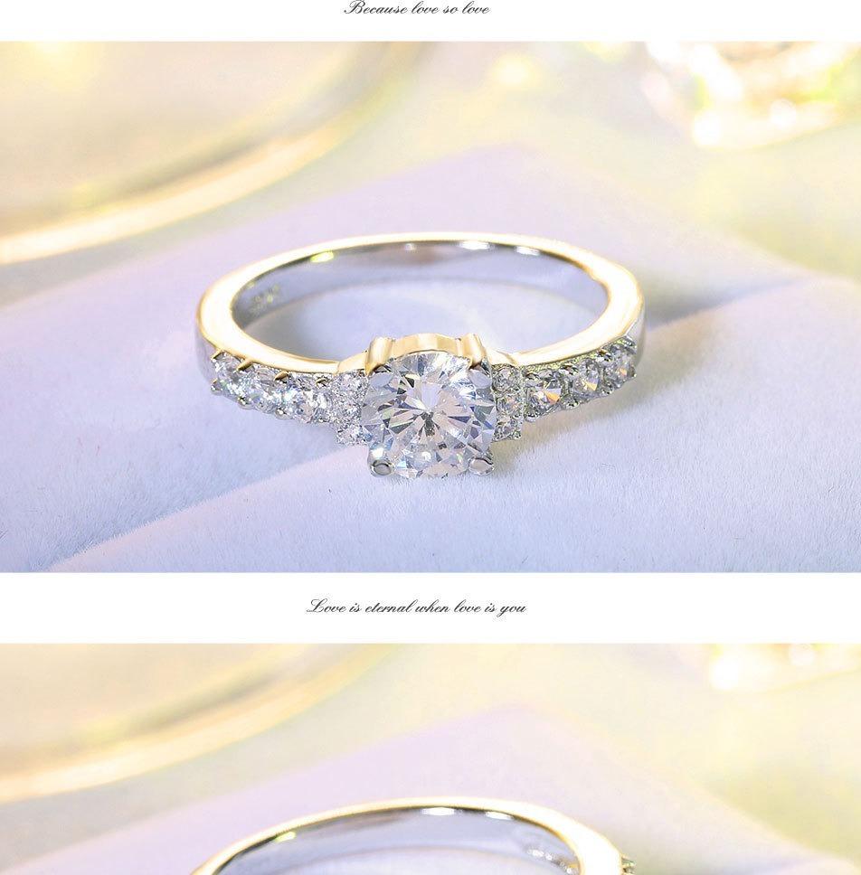 81596abc69e0 Anillo Plata Tipo Diamante Amor Msi -   299.00 en Mercado Libre