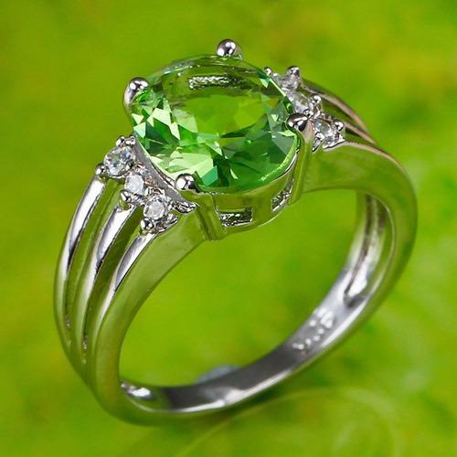 anillo plata topacio