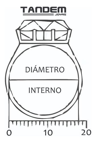 anillo plata triple inicial, anillo letras