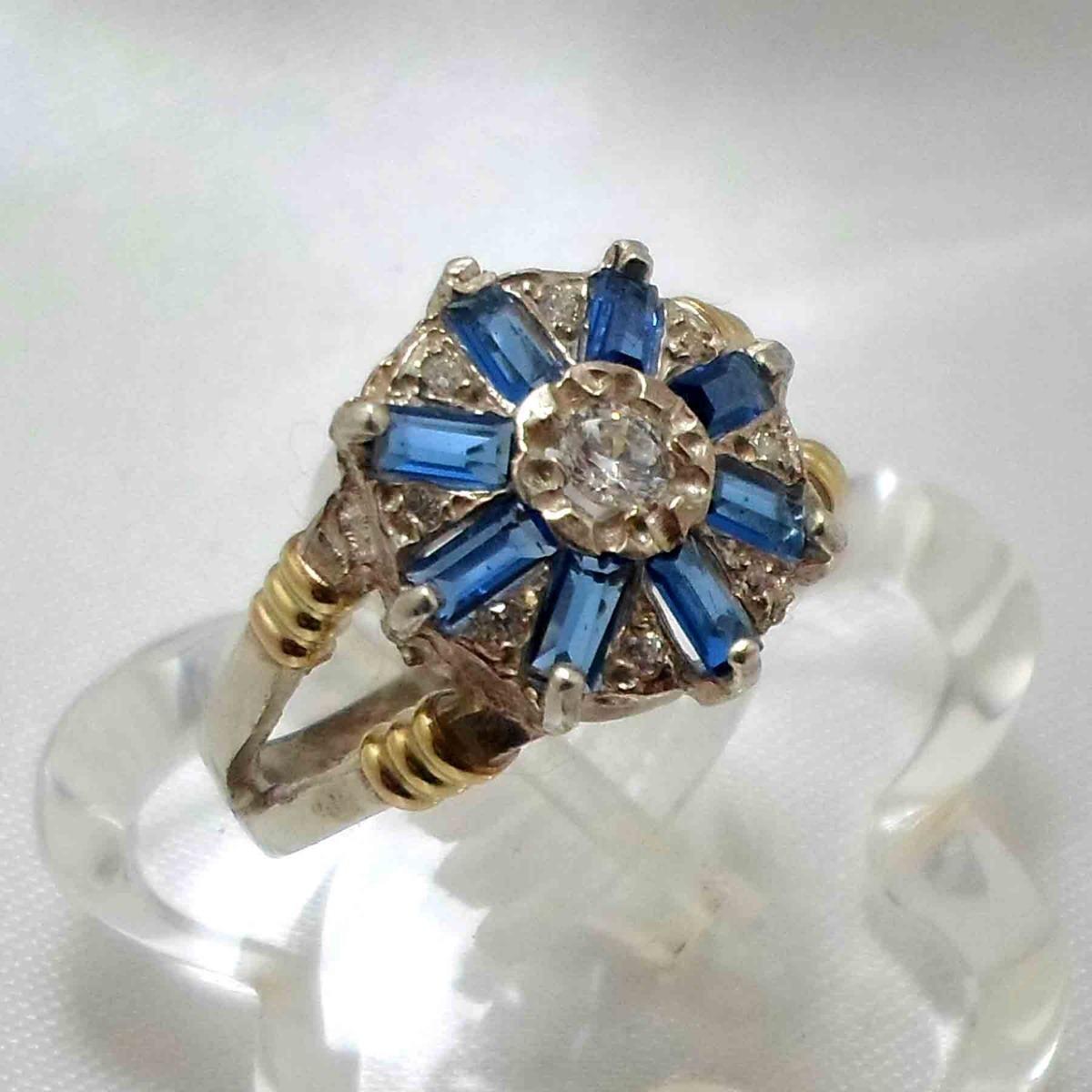 073ca33d2559 anillo plata y oro con circones y cubics colores. nro 21. Cargando zoom.