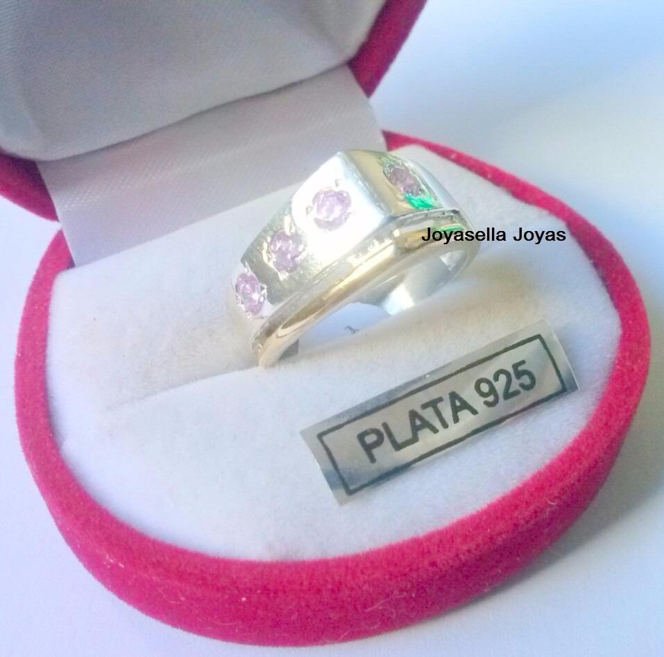 aef52e125ea8 anillo plata y oro con piedras engarzadas. Cargando zoom.