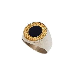 venta caliente online 5ed08 26ea1 Anillo Plata Y Oro Estrella Oriente Piedra Negra T/ Bulgari