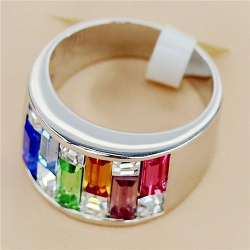 anillo plata zafiro berilo rosa naranja zirconia tamano 6