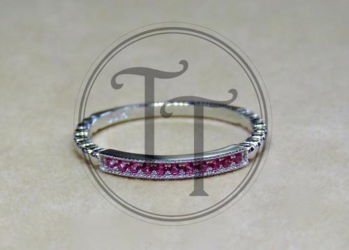 anillo plata zafiros