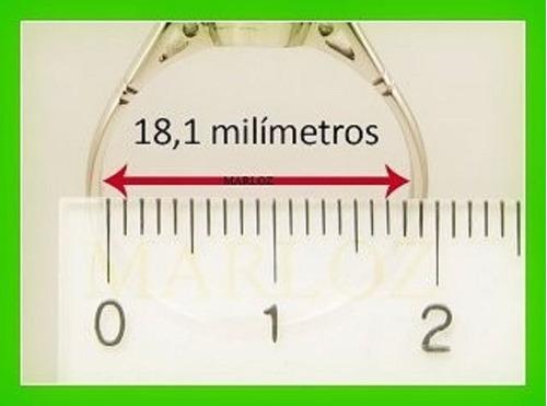 anillo plata zirconia