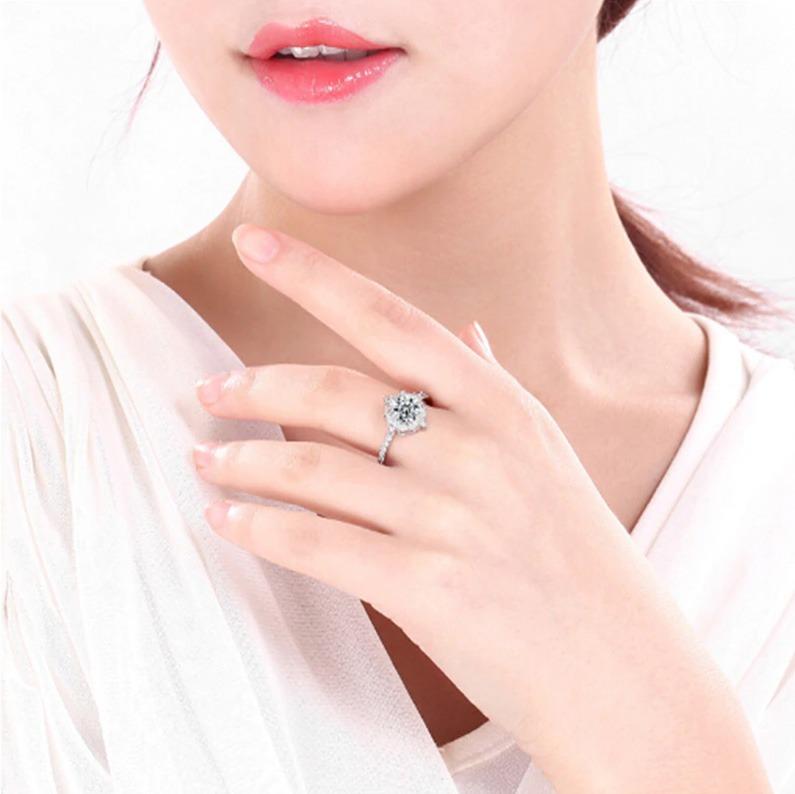 bc787c4bf58d anillo de compromiso plata pura esterlina zirconia aaa · anillo plata  zirconia