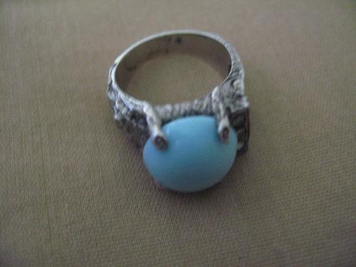 anillo plata zirconias