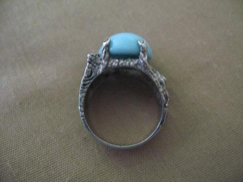 anillo plata zirconias y opalo medida 9