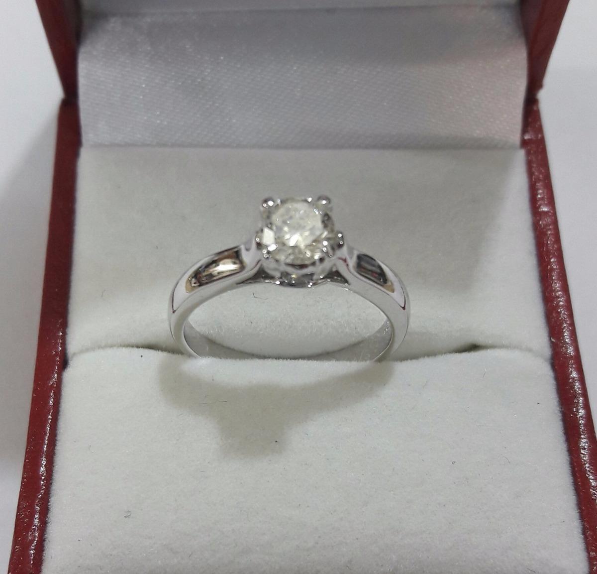 58d31b8bc060 Anillo Compromiso De Platino Con Diamante Natural De .50ct ...