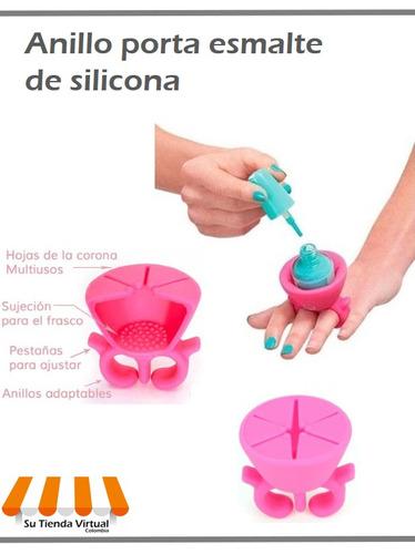 anillo porta esmalte de uñas. innovador