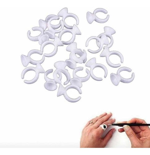 anillo porta pegamento pestañas extensiones pack x 50 uds.