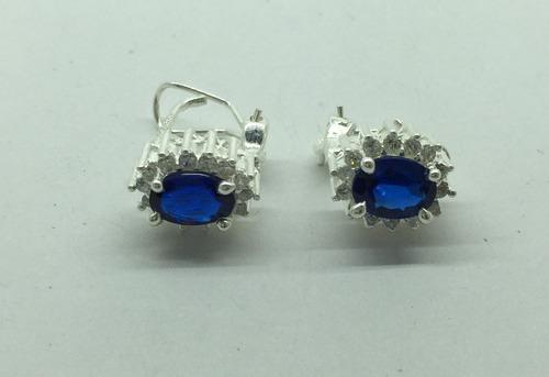 anillo princess plata 925 tallas del 6,7,8,9,10, azul zafiro