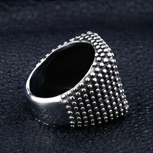anillo púas golpe guerrero popular acero inoxidable hombre