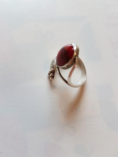 anillo regulable alpaca y piedra