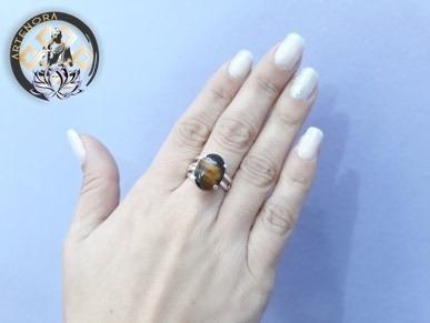 anillo regulable ovalado piedra semipreciosa artenora