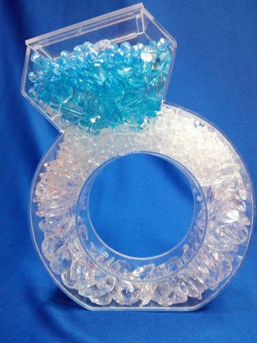 anillo  rellenable acrilico  boda, despedidas , 25 cm