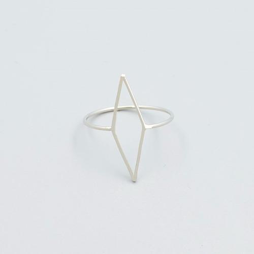 anillo rombo plata 925 cromado de 1,8 diametro