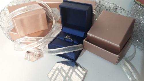 anillo rosa baño plata vintage talla 6