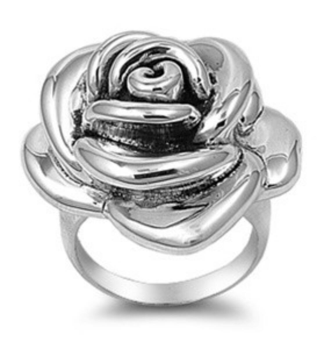 010a923e9457 Anillo Rosa Flor De Plata Ley 0.925 Excelente -   299.00 en Mercado ...