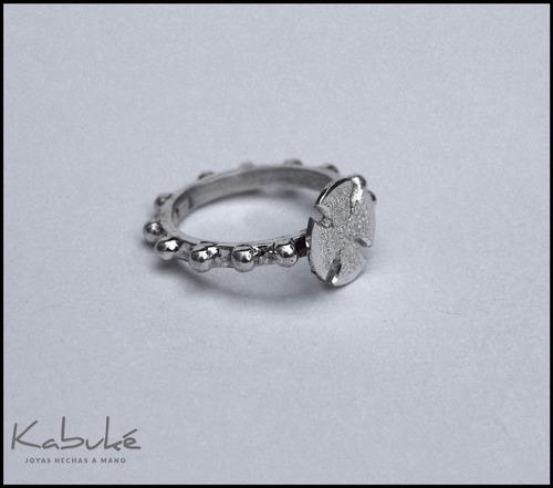 anillo rosario vasco en plata 925 hecho a mano a tu medida!