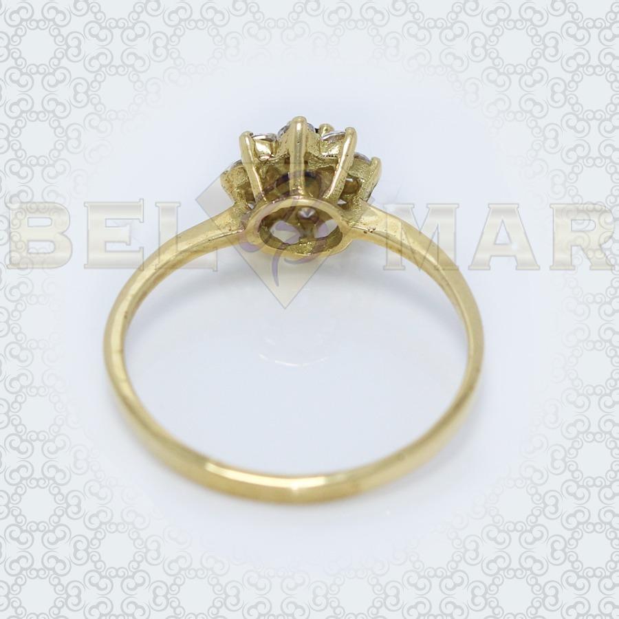 56b80773eeff anillo roseta oro 18k cintillo modelo 9 piedras cubic 1.8g. Cargando zoom.