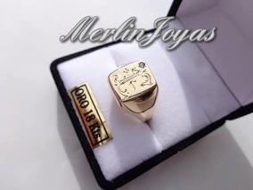 639ff0a8ed01 Anillo De Oro Amarillo 18 K Con Inicial A Eleccion An2043 - Joyas y Relojes  en Mercado Libre Argentina