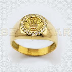 zapatos casuales venta usa online última selección Anillo Sello Corona Rey Tipo Rolex Oro 18k Hombre Mujer 7grs