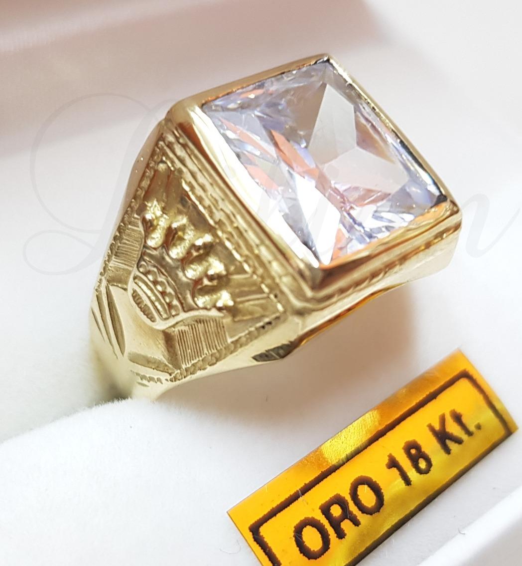 ae6a33f8ebdc anillo sello hombre oro 18k piedra coronas cubic rojo azul. Cargando zoom.