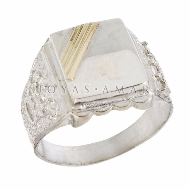a501249c1ae1 anillo sello hombre plata y oro rectangular coronas rolex. Cargando zoom.