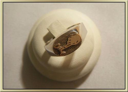 anillo sello obstetra plata y oro diaz piriz