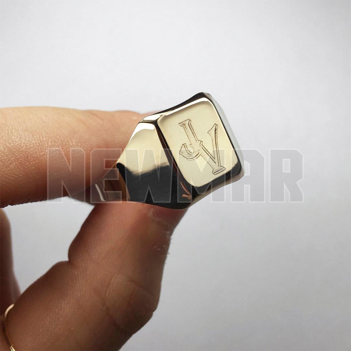 2edf20be72be anillo sello oro 18k cuadrado hombre grabado envio gratis. Cargando zoom.