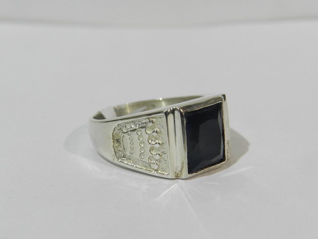 c9b9b3a1e656 anillo sello   plata 925   con piedra hombre. Cargando zoom.