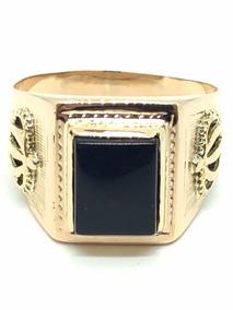 c73a7285a899 Anillo De Oro Onix Negro - Joyas y Relojes en Mercado Libre Argentina