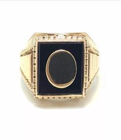 ac7b5296ff7e Anillos Sello Con Piedra Negra - Joyas y Relojes en Mercado Libre Argentina