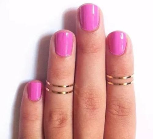 anillo set de 4 aros muy de moda