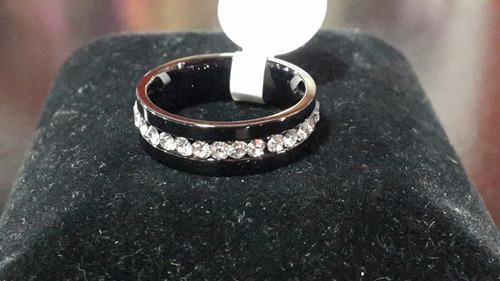 anillo sin fin acero quirurgico negro