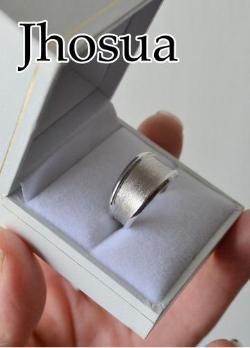 anillo sirio de oro blanco 18 kilates modelo único y hermoso