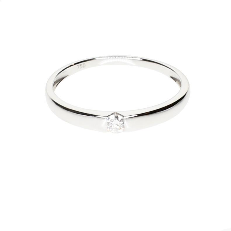 6171f2cb5e26 Anillo Solitario Compromiso Diamante Oro Blanco 18 Kts. -   25.200 ...