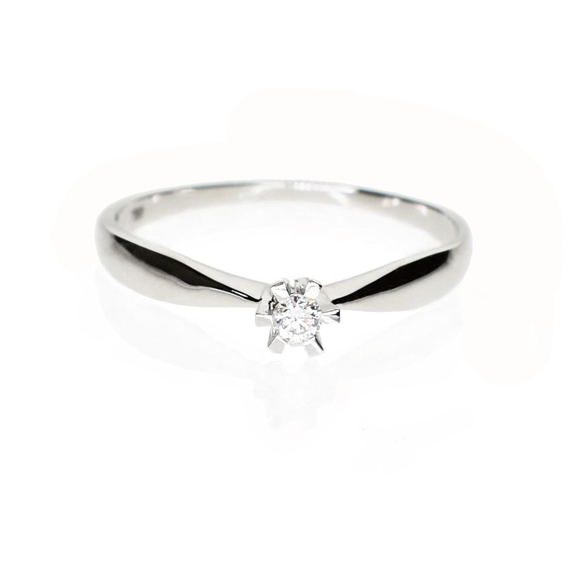 e4438e27aea5 Anillo Solitario Compromiso Diamante Oro Blanco 18 Kts. -   24.800 ...